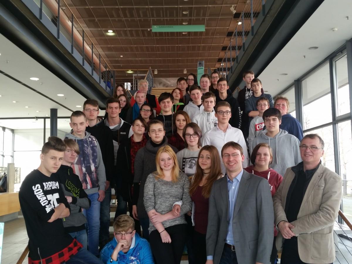 Besuchergruppe im sächsischen Landtag